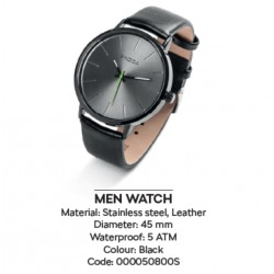 MEN WATCH BLACK - RELOJ